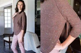 Пуловер с рукавом реглан в стиле пончо - Фото 1