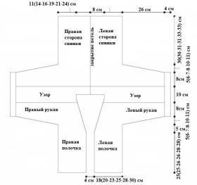 Кардиган леона - Выкройка 1