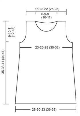 Жаккардовое короткое платье спицами без рукавов - Выкройка 1