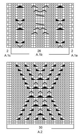 Подушка ирландская зима - Схема 1