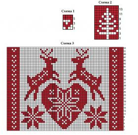 Подушка со скандинавским жаккардовым узором - Схема 1
