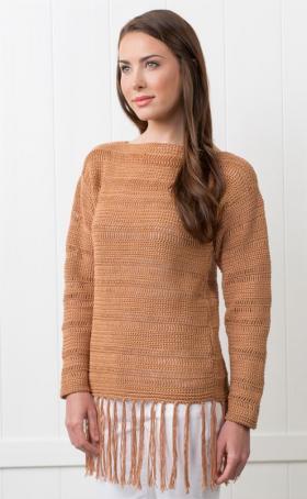 Пуловер цветочный холм