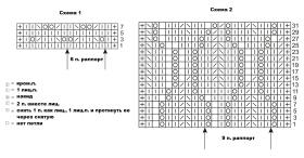 Ажурный палантин из мохера - Схема 1