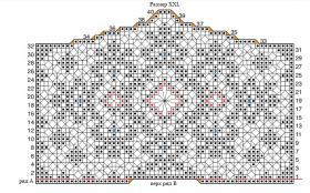 Свадебное болеро крючком филейным вязанием - Схема 5