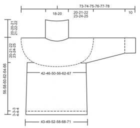 Джемпер с жаккардом и высоким широким воротником - Выкройка 1