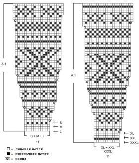 Белый жакет спицами с круглой кокеткой - Схема 1