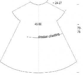 Туника платочным узором связанная поперек - Выкройка 1