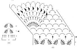 Юбка миди с ажурными мотивами - Схема 3