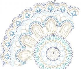 Салфетка голубая Мандала - Схема 1