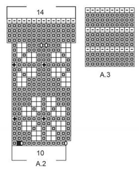 Свитер Чудная маргаритка - Схема 5