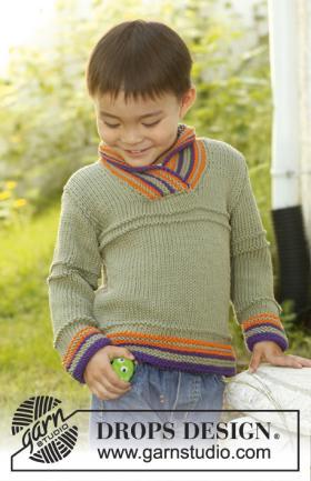 Джемпер для мальчика с полосами