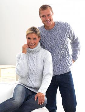 Пуловер с узором из аранов (Для него)