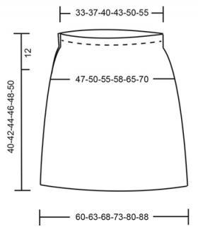 Юбка ягодная рябь - Выкройка 1