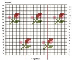 Жакет с розами для малыша - Схема 1