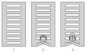 Трио чехлов на подушки - Выкройка 1