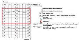 Кардиган со жгутами на пуговицах - Схема 1