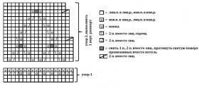 Туника из кид мохера с ажуром - Схема 1