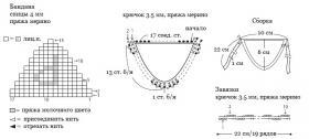 Белый козлик крючком - Схема 5