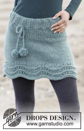 Короткая юбка с волнистым краем