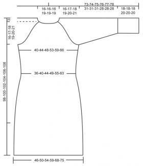 Платье с ажурно-рельефными узорами до колен - Выкройка 1