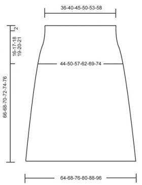 Юбка длиной ниже колен с ажуром - Выкройка 1