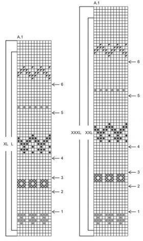 Джемпер карамельная дорожка - Схема 1
