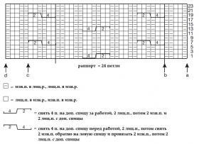 Топ на бретелях с узором из жгутов - Схема 1