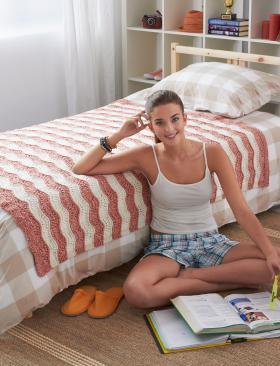 Одеяло с плавными волнами