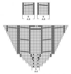 Пуловер В точку - Схема 5