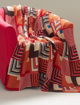 Одеяло с геометрическим узором