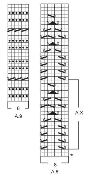 Джемпер спицами с укороченным рукавом и ажуром - Схема 2