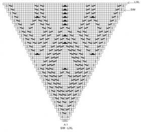 Ультра короткое болеро спицами с ажурным узором - Схема 3