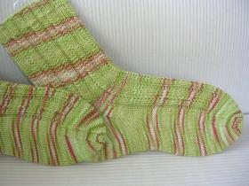 Носки с узором из полос - Фото 1