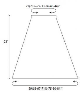 Юбка гибискус - Выкройка 1