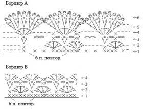 Ажурный жилет крючком с волнистым краем - Схема 2