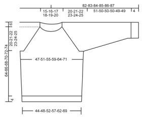 Мужской пуловер реглан с широким вырезом горловины - Выкройка 1