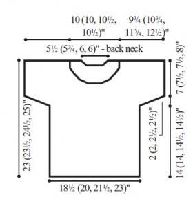 Пуловер горизонт - Выкройка 1