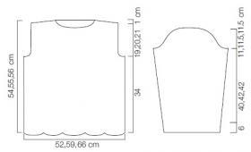 Ажурный свитер с поясом - Выкройка 1