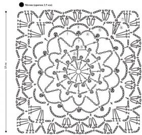 Ажурный чехол для подушки - Схема 2