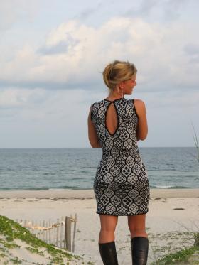 Платье с жаккардовым узором - Фото 1