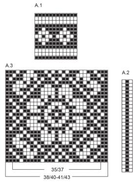Носки с ярким принтом и жаккардом - Схема 1