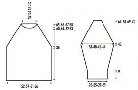 Удлиненный пуловер реглан с косами - Выкройка 1