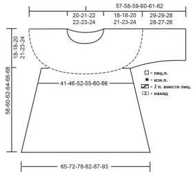 Джемпер Дюна - Выкройка 1