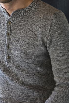 Мужской свитер с воротником стойка - Фото 1