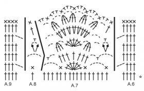 Ажурное покрывало крючком - Схема 2