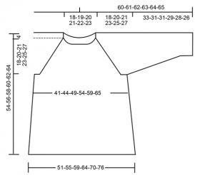 Джемпер длина волны - Выкройка 1