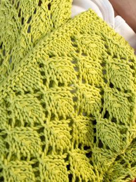 Одеяло с узором листья - Фото 1
