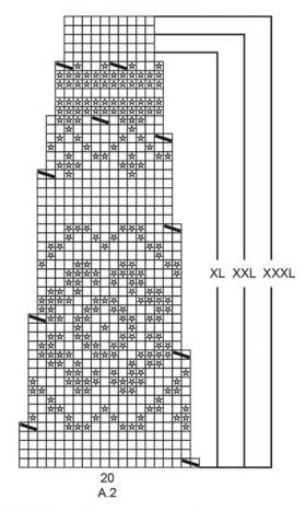 Пуловер Литорина - Схема 3