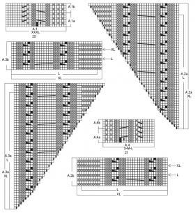 Джемпер зимний колорит - Схема 2