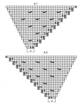 Шаль Прилив - Схема 2